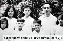 Đại tướng Võ Nguyên Giáp có mấy người con, họ là ai? 1