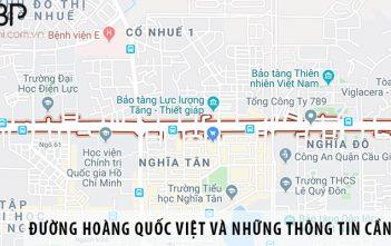 Đường Hoàng Quốc Việt và những thông tin cần biết