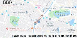 Nguyễn Khang - con đường mang tên cựu chính trị gia của Việt Nam