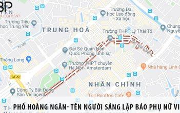 Phố Hoàng Ngân- tên người sáng lập báo Phụ nữ Việt Nam