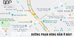 Đường Phạm Hùng nằm ở đâu?