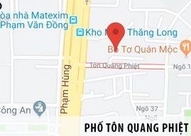 Phố Tôn Quang Phiệt ở đâu?