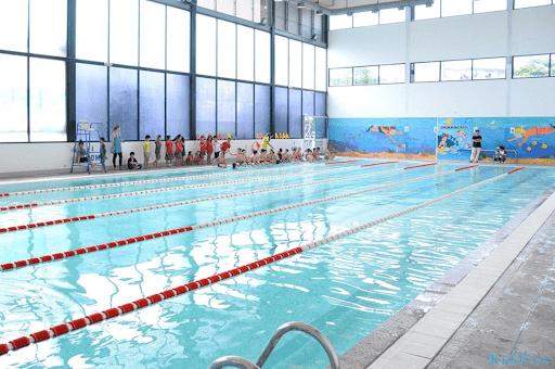 Bể bơi của trường song ngữ quốc tế Hà Nội Academy