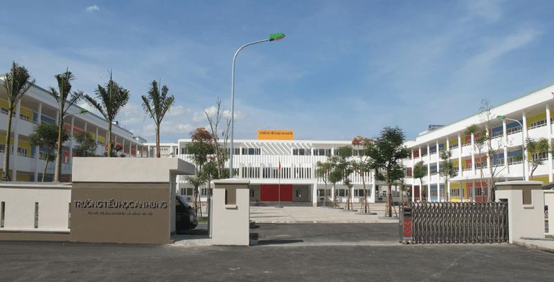 Cảnh quan sạch đẹp, khang trang của trường tiểu học An Hưng