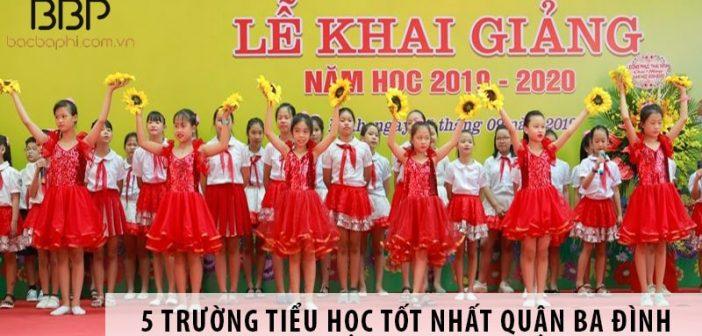 Top 5 trường tiểu học tốt nhất quận Ba Đình