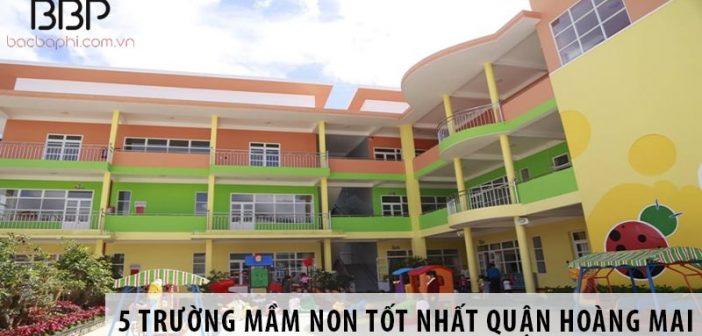 5 trường mầm non giảng dạy tốt nhất quận Hoàng Mai