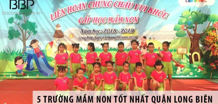 Top 5 trường mầm non tốt nhất quận Long Biên