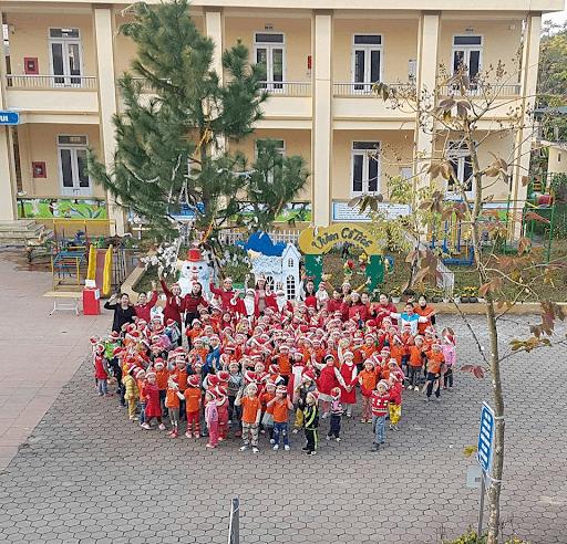 Học sinh trường mầm non Cẩm Lĩnh B được tổ chức lễ Noel năm 2019