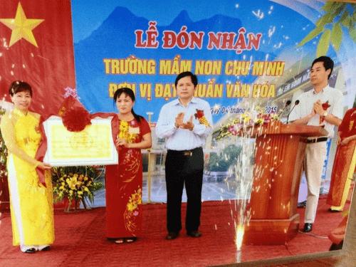 Trường mầm non Chu Minh - Ba Vì, Hà Nội
