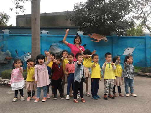 Học sinh trường mầm non Vườn hoàng gia đi tham quan Thiên đường Bảo Sơn