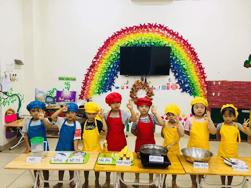 """Học sinh trường mầm non Sơn Ca trong dự án """"Bắp ngô"""""""