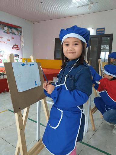 Học sinh trường mầm non Capitole tham gia cuộc thi vẽ tranh