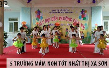 5 trường mầm non tốt nhất thị xã Sơn Tây