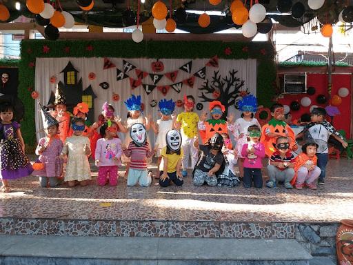 Hình ảnh trong lễ hội Halloween 2019 của trường mầm non Sao Việt