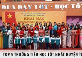 Top 5 trường tiểu học tốt nhất tại huyện Thanh Trì, Hà Nội