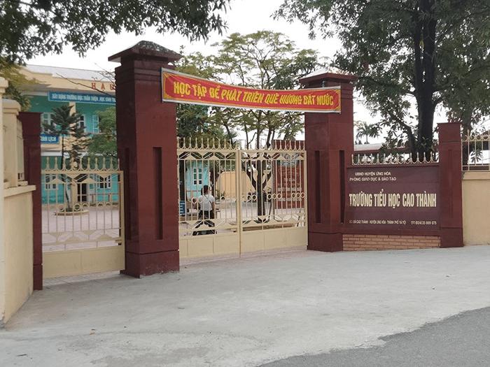 Trường tiểu học Cao Thành - huyện Ứng Hòa