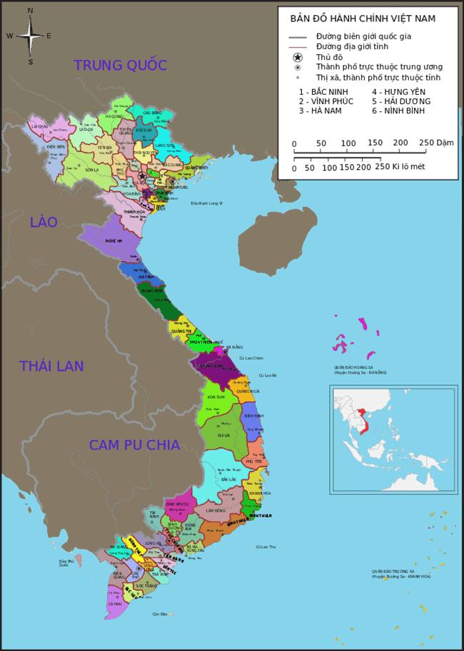 Đường biên giới của Việt Nam với Lào là dài nhất
