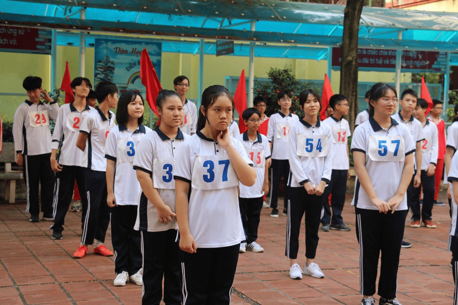 Trường THCS Vân Hồ hưởng ứng giải chạy báo Hà Nội Mới