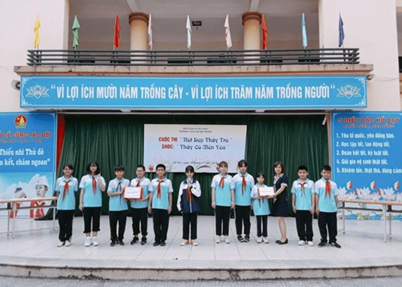 Hội thi Nét đẹp thầy trò của trường THCS Hai Bà Trưng