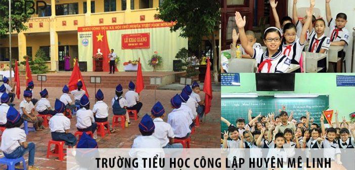 3 trường tiểu học công lập tốt nhất huyện Mê Linh