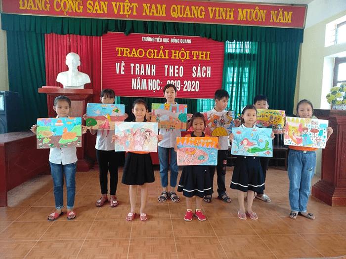 Cuộc thi vẽ tranh cho học sinh tại trường tiểu học Đồng Quang