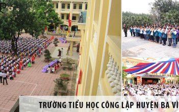 4 trường tiểu học tốt nhất tại huyện Ba Vì
