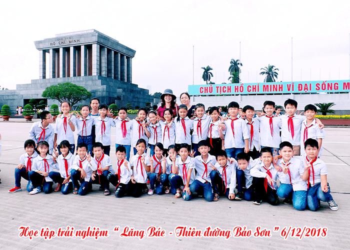 """Học sinh trường tiểu học Tản Lĩnh trong chuyến học tập trải nghiệm """"Lăng Bác - Thiên đường Bảo Sơn"""""""