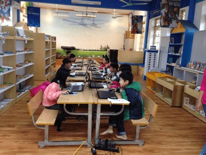Phòng tin học của nhà trường