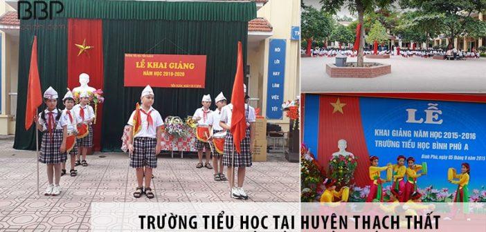 Top 3 trường tiểu học chất lượng tại huyện Thạch Thất