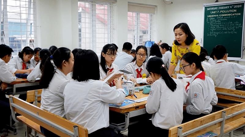 Một tiết học của trường THCS Nguyễn Du