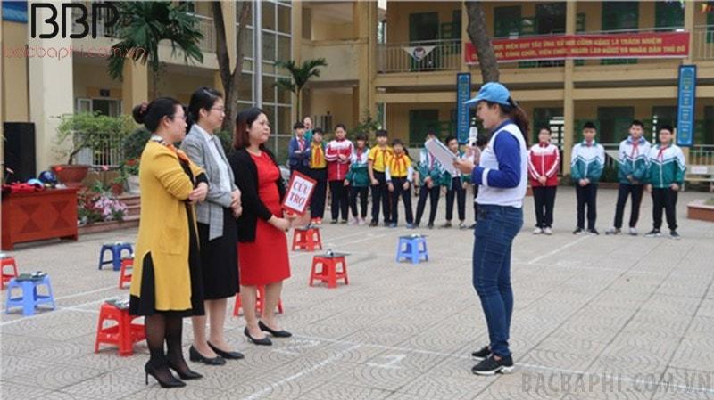 Trường THCS Dương Xá tổ chức ngày hội An toàn giao thông cho các em học sinh