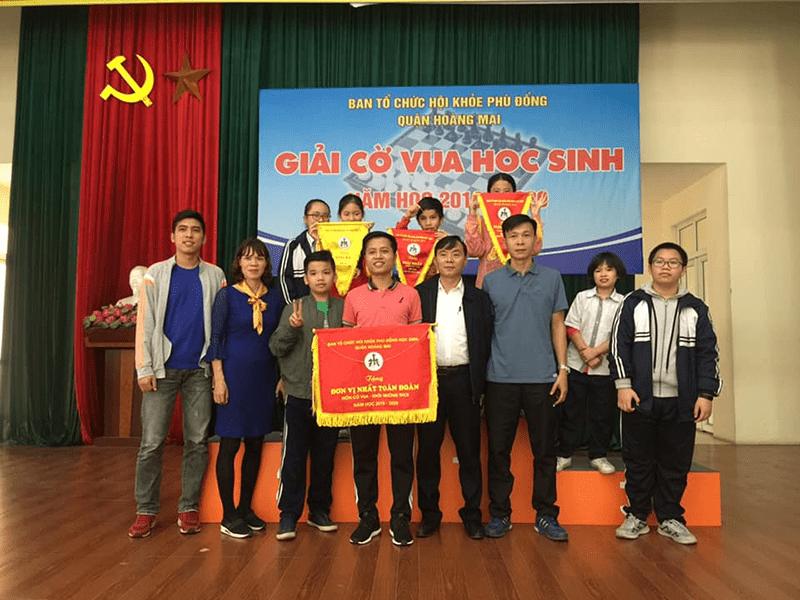 Học sinh trường THCS Tân Mai đạt giải nhất tại giải cờ vua do quận Hoàng Mai tổ chức