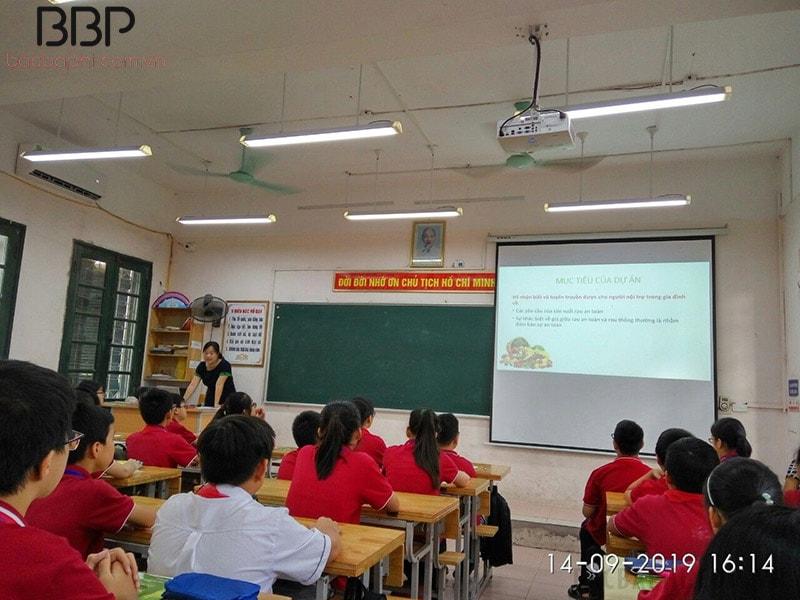 Một tiết học của trường THCS Đông Thái