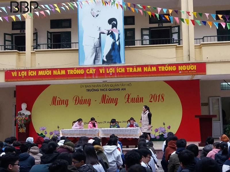 """Hoạt động chuyên đề: """"Mừng Đảng - mừng Xuân"""" của trường THCS Quảng An"""