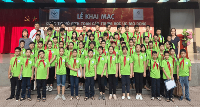 Cuộc thi vô địch toán cấp trung học Úc mở rộng cũng có sự góp mặt của học sinh trường THCS Ái Mộ