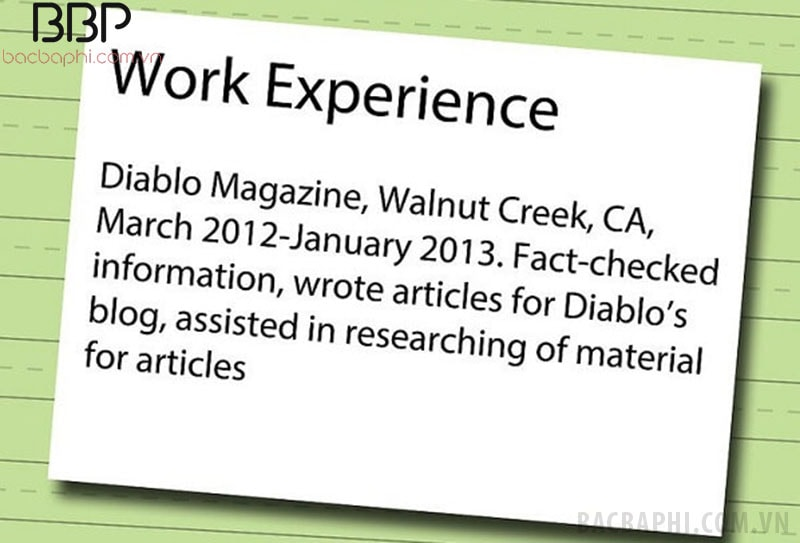Exp là kinh nghiệm làm việc