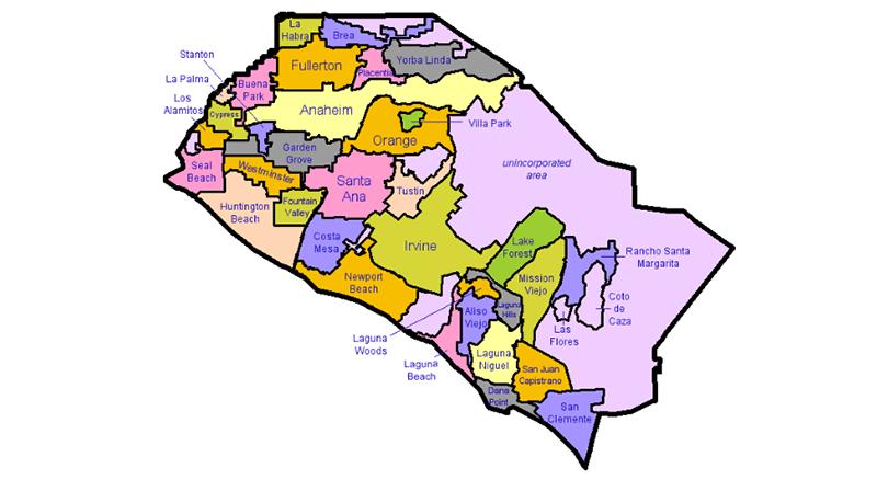 Bản đồ quận Cam