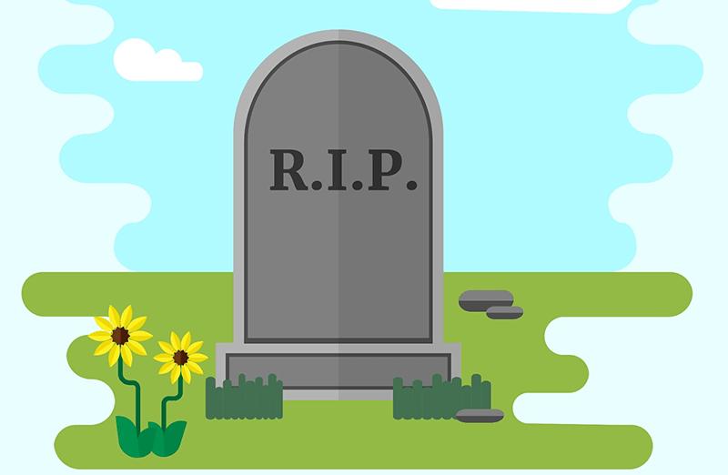 R.I.P thường được viết trên các bia mộ