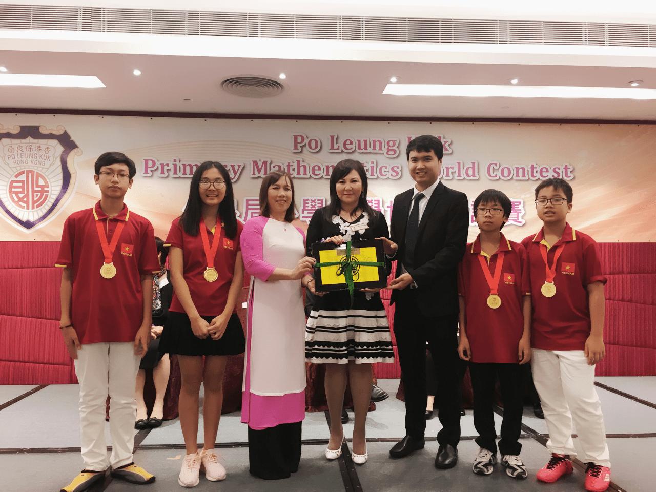 Học sinh trường THCS Cầu Giấy đạt huy chương đồng trong kỳ thi Toán Quốc tế Po Leung Kuk lần thứ 21 (21th PMWC) tổ chức tại Hong Kong