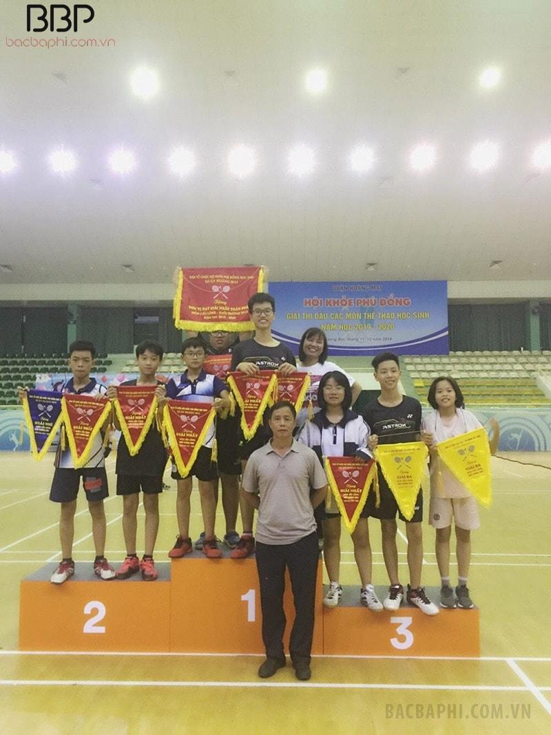 Học sinh nhà trường đạt giải nhất môn Cầu lông tại Hội khỏe Phù đổng của huyện