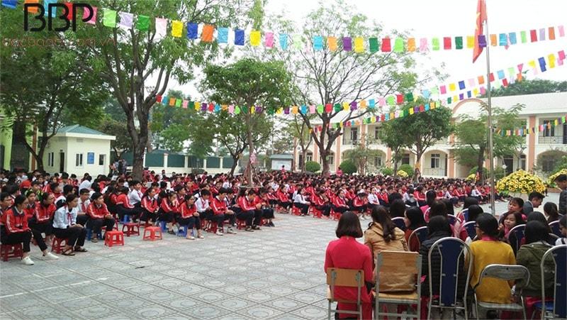 Tiết sinh hoạt dưới cờ của học sinh trường THCS Tam Hiệp