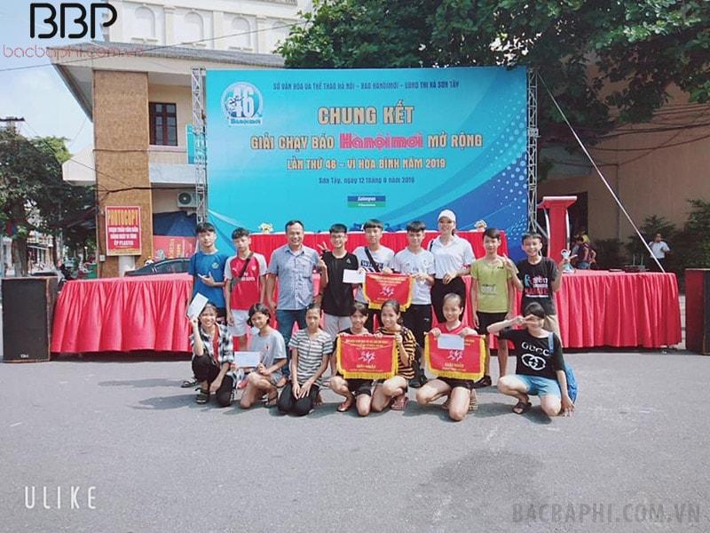 Học sinh trường THCS Cổ Đông đạt giải nhất cuộc thi Chạy báo Hà Nội mới