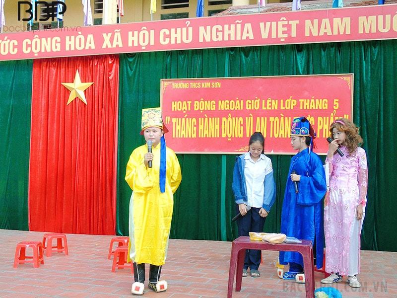 Hoạt động ngoài giờ lên lớp của trường THCS Kim Sơn