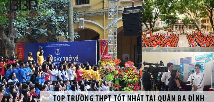 Top những trường cấp 3 THPT tốt nhất tại quận Ba Đình