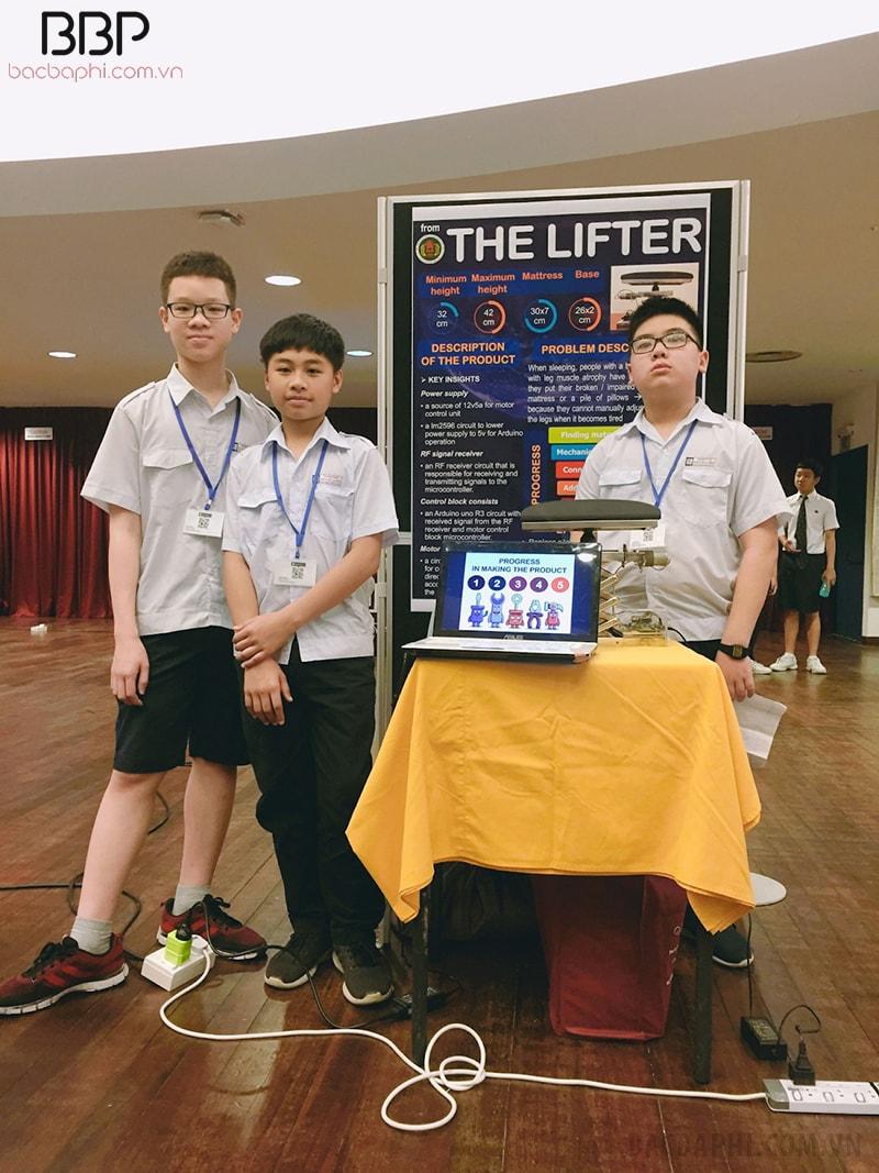 3 em học sinh trường THCS Ngô Sĩ Liên góp mặt trong cuộc thi Sáng tạo khoa học iDEX