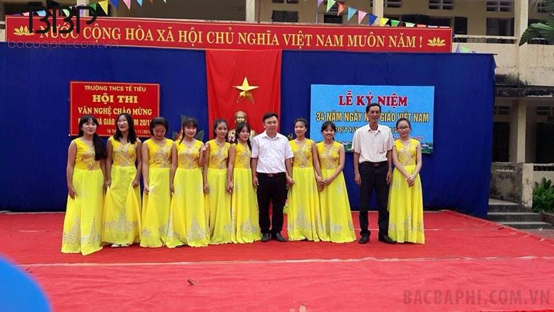 Lễ kỷ niệm ngày Nhà giáo Việt Nam của trường THCS Tế Tiêu