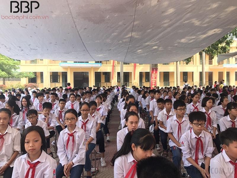 Buổi sinh hoạt dưới cờ của học sinh toàn trường