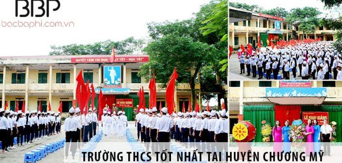 3 trường cấp 2 THCS tốt nhất tại huyện Chương Mỹ