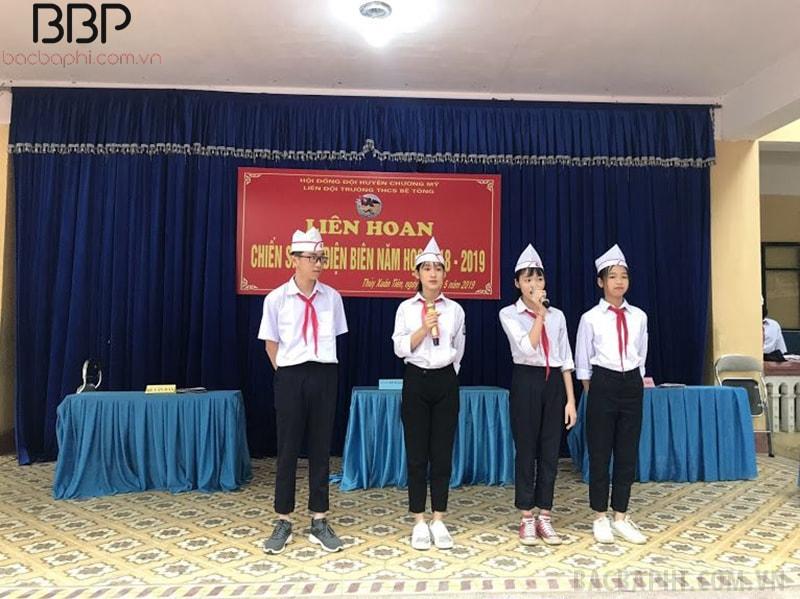 Chương trình Liên hoan chiến sĩ Điện Biên do trường THCS Bê Tông tổ chức