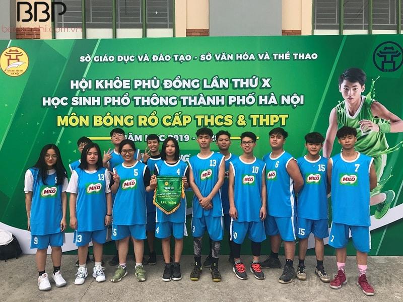 Đội bóng rổ nam và nữ của trường THPT Văn Hiến tham gia Hội khỏe phù đổng năm học 2019-2020 của thành phố Hà Nội